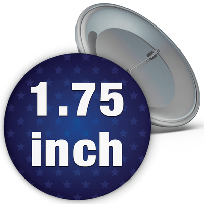 "1.75"" Round Custom Pinback Buttons, 1-3/4"""