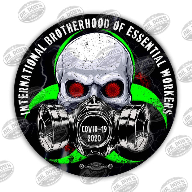 International Brotherhood of Essential Workers Hard Hat Vinyl Sticker / UBEW-7-6""