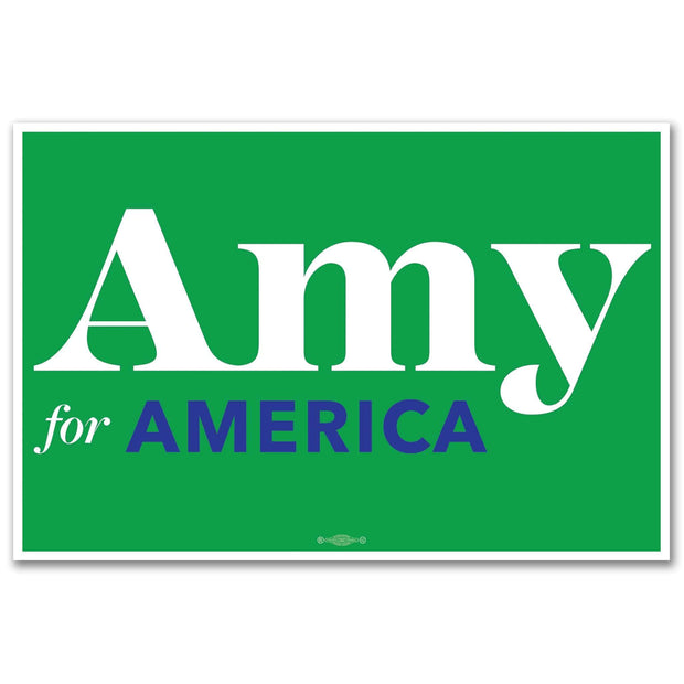 Amy for America 2020 Rally Sign / AK-Sign-2