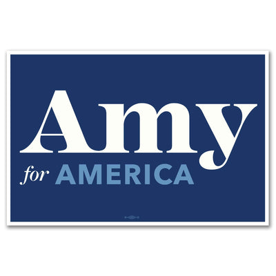 Amy for America 2020 Rally Sign / AK-Sign-1