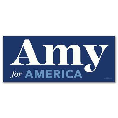 Amy Klobuchar for America 2020 Campaign Bumper Sticker / AK-BS-601