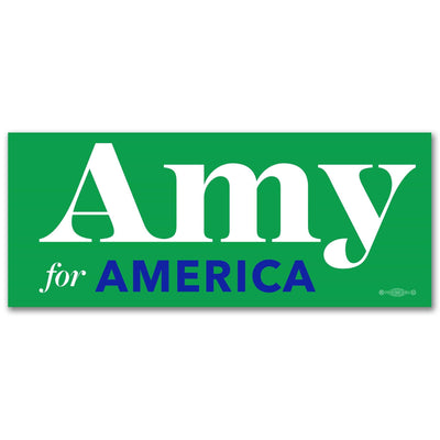 Amy for America Green 2020 campaign vinyl sticker