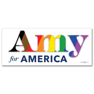 Amy for America Pride Vinyl Sticker