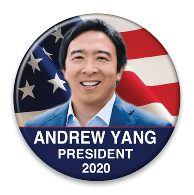 Andrew Yang President 2020 Campaign Pinback Button / AY-308 - Buttonsonline