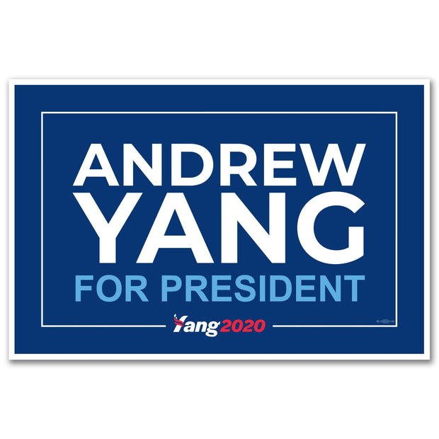 Andrew Yang For President 2020 Rally Sign / AY-Sign-1 - Buttonsonline