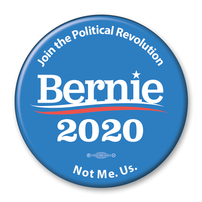 Bernie 2020 Join the Political Revolution Presidential Campaign Pinback Button / BS-319 - Buttonsonline