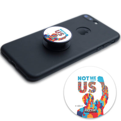 Bernie 2020 Not Me, US. Round Vinyl Pop Socket Sticker / BS-PS-2 - Buttonsonline