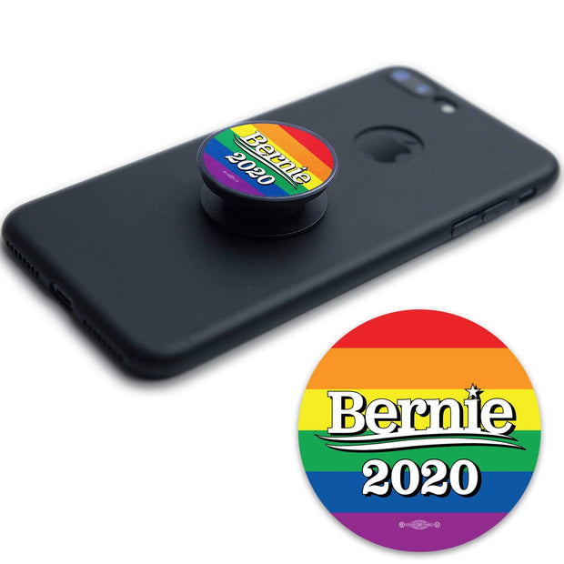 Bernie 2020 Round Vinyl Pride Pop Socket Sticker / BS-PS-3 - Buttonsonline