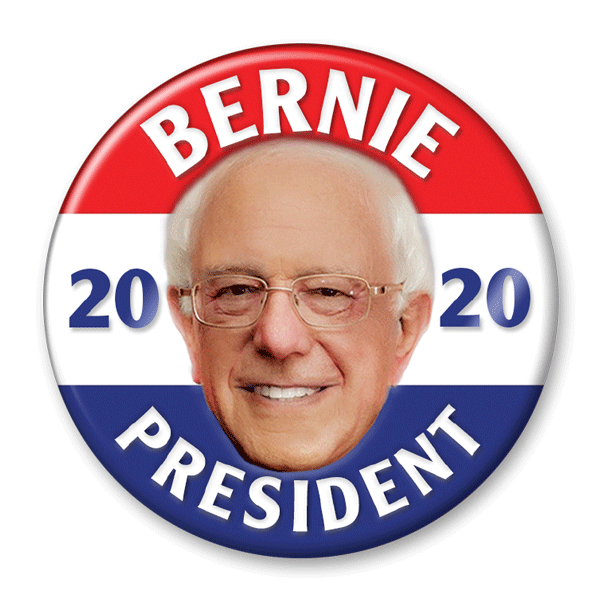 Bernie Sanders 2020 Photo Presidential Pinback Button / BS-312 - Buttonsonline