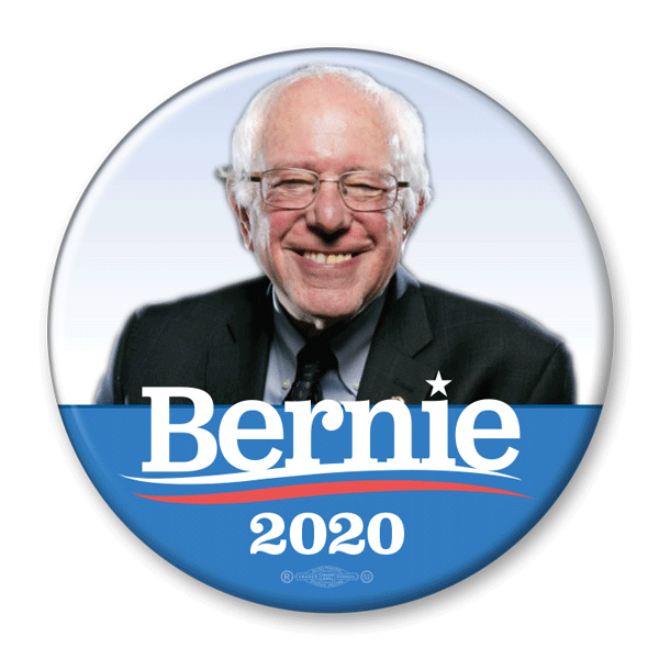 Bernie Sanders 2020 Campaign Photo Button / BS-305 - Buttonsonline