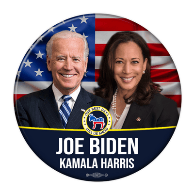 Biden Harris 2020 Photo Campaign Button