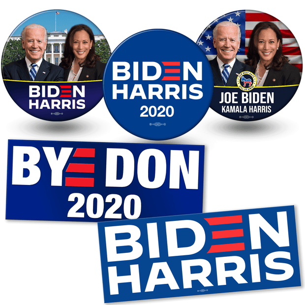 Joe Biden Kamala Harris Official 2020 President Campaign Bumper Sticker Blue