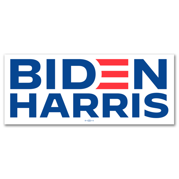 Biden Harris 2020 White Campaign Bumper Sticker / JB-BS-606