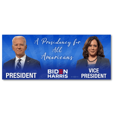 Biden Harris a Presidency for all Americans Bumper Sticker / JB-BS-609