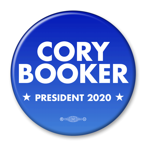 Cory Booker / 2020 Presidential Pinback Button / CB-302 - Buttonsonline