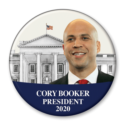 Cory Booker White House Photo Campaign Button / CB-305 - Buttonsonline