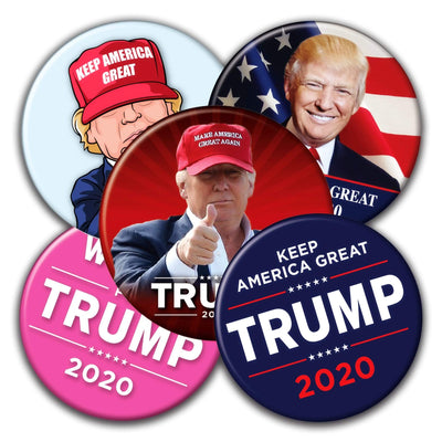 Donald Trump 2020 Presidential Campaign Buttons - Mix and Match