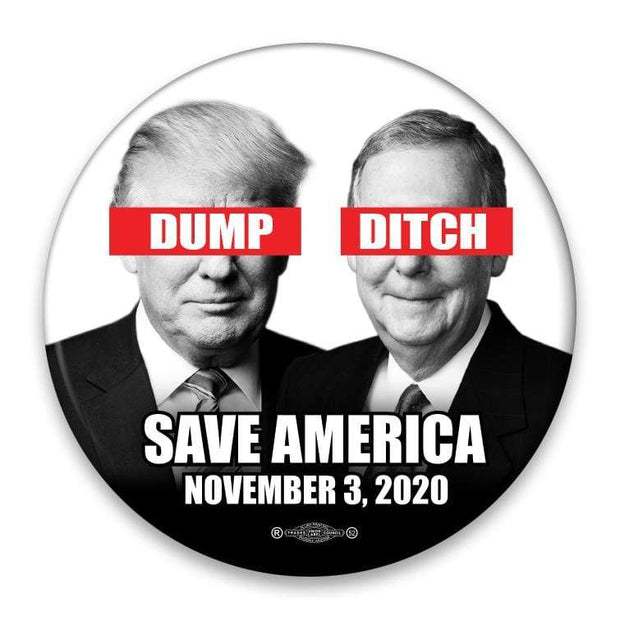 Dump Trump Ditch Mitch Save America 2020 Campaign Button / AT-45