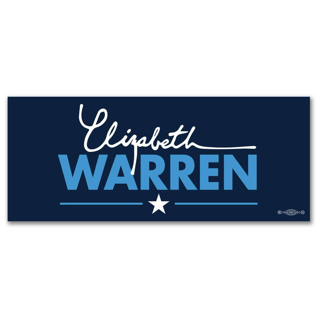 Elizabeth Warren 2020 Navy Blue Bumper Sticker / EW-BS-603 - Buttonsonline