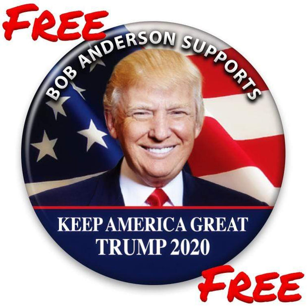 FREE! Personalize this Button. Trump 2020 Pinback Button / DT-PERS-NAME