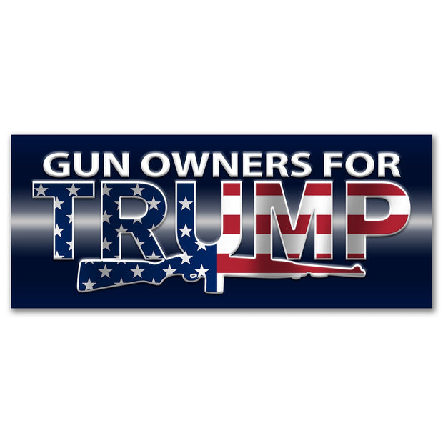 Gun Owners for Trump 2020 American Flag Bumper Sticker / DT-BS-540