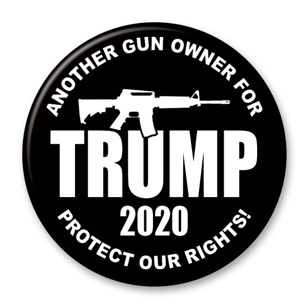 Gun Owners for Trump 2020 Campaign Pinback Button / DT-235 - Buttonsonline