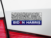 I Paid More Taxes Than Donald Trump Bumper Sticker / JB-BS-608