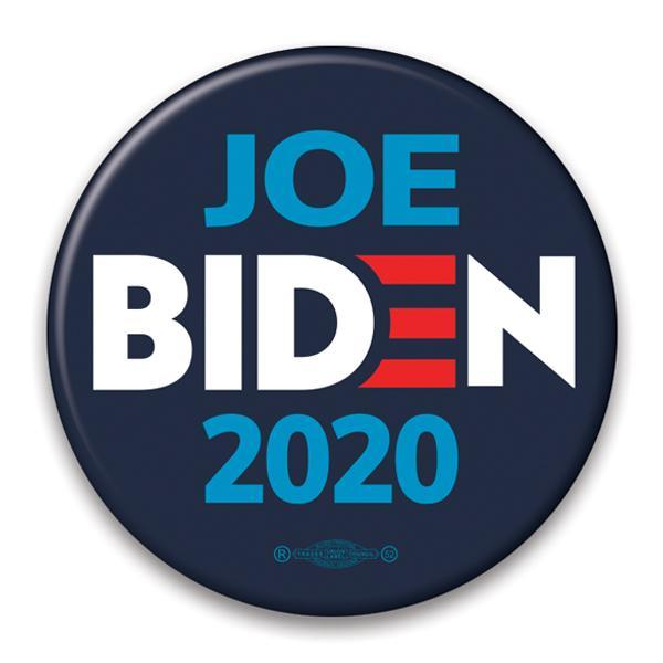 Joe Biden 2020 Navy Blue Pin Back campaign button, JB-314
