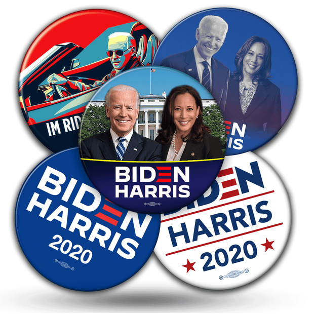 Joe Biden 2020 Presidential Campaign Buttons - Mix and Match