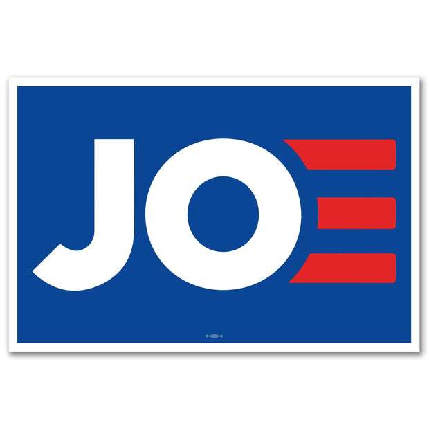 "Joe Biden 2020, Blue background,JOE white with red E 12"" x 18"" Rally Sign / JB-Sign-1"