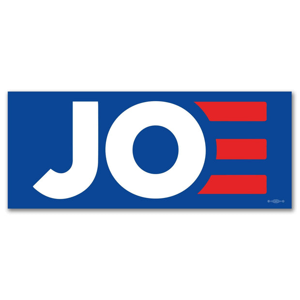 JOE blue campaign bumper stickers / Joe Biden for President 2020