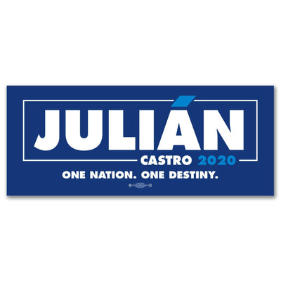 Julián Castro 2020 Blue Campaign Bumper Sticker / JC-BS-601 - Buttonsonline