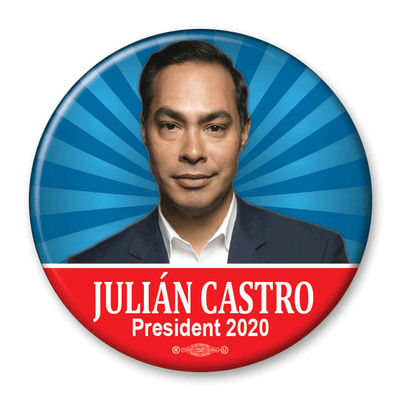 Julian Castro / President 2020 / Pinback Photo Button / JC-302 - Buttonsonline