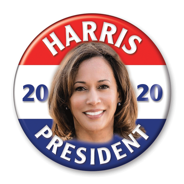 Kamala Harris 2020 Photo Presidential Campaign Pinback Button / KB-307 - Buttonsonline