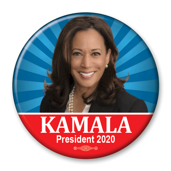 Kamala Harris 2020 Presidential Photo Pinback Button / KB-302 - Buttonsonline