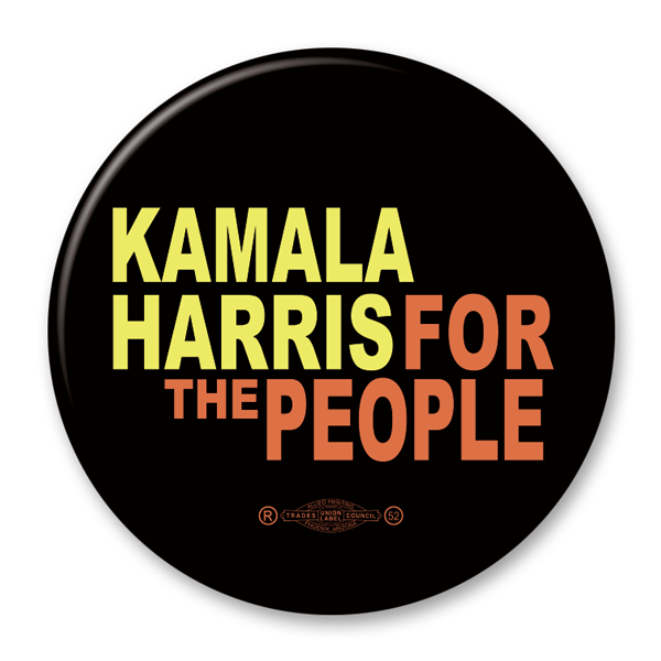 Kamala Harris for the People / 2020 Presidential Pinback Button / KB-306 - Buttonsonline