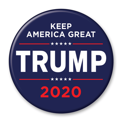 Trump 2020 Keep America Great Blue Campaign Pinback Button / DT-229 - Buttonsonline