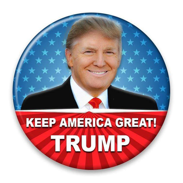 Keep America Great! Trump 2020 Campaign Pinback Photo Button / DT-232 - Buttonsonline