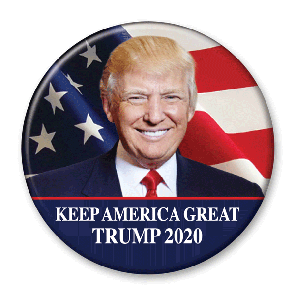 Keep America Great / Trump 2020 Pinback Photo Button / DT-253 - Buttonsonline