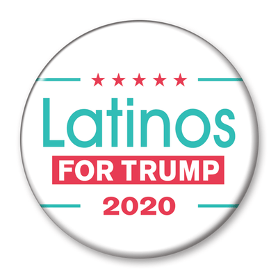 Latinos for Trump 2020 Campaign Pinback Button / DT-257 - Buttonsonline