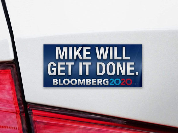 Mike Bloomberg 2020 Blue Campaign Bumper Sticker / MB-BS-603