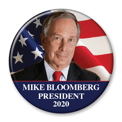 Mike Bloomberg President 2020 Photo Campaign Pinback Button / MB-301 - Buttonsonline
