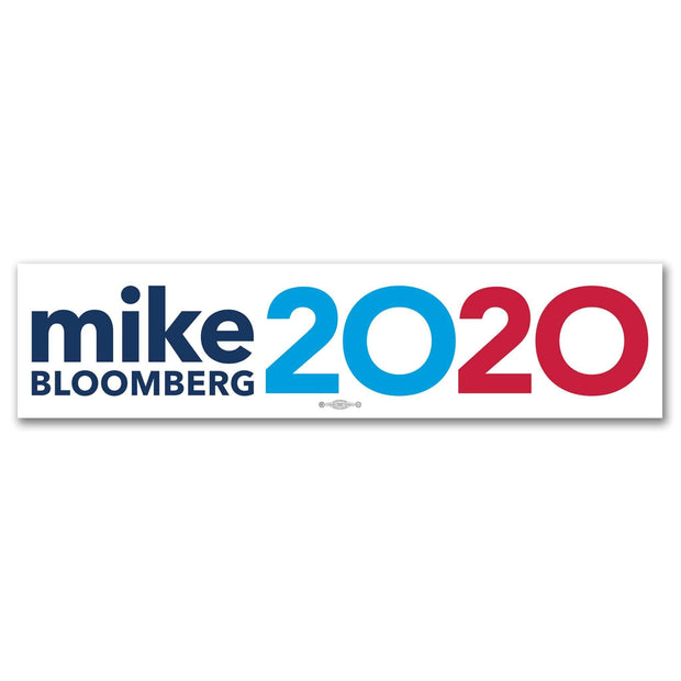 Mike Bloomberg 2020 White Campaign Bumper Sticker / MB-BS-601 - Buttonsonline