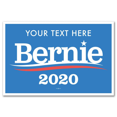 Personalized Bernie Sanders 2020 Rally Sign / BS-Sign-1-pers - Buttonsonline