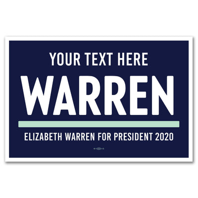 Personalized Elizabeth Warren 2020 Rally Sign / EW-Sign-1-pers-Pers - Buttonsonline