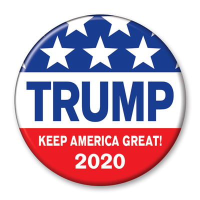 Trump 2020 Keep America Great Campaign Pinback Button / DT-242 - Buttonsonline