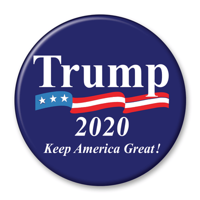 Trump 2020 Keep America Great! Campaign Pinback Button / DT-247 - Buttonsonline