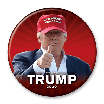 Trump 2020 Make America Great Again Photo Pinback Button / DT-243 - Buttonsonline