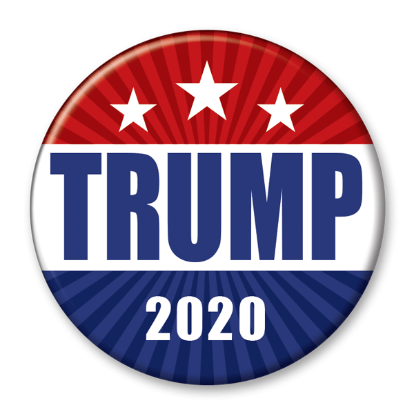 Trump 2020 Red White and Blue Campaign Pinback Button / DT-237 - Buttonsonline