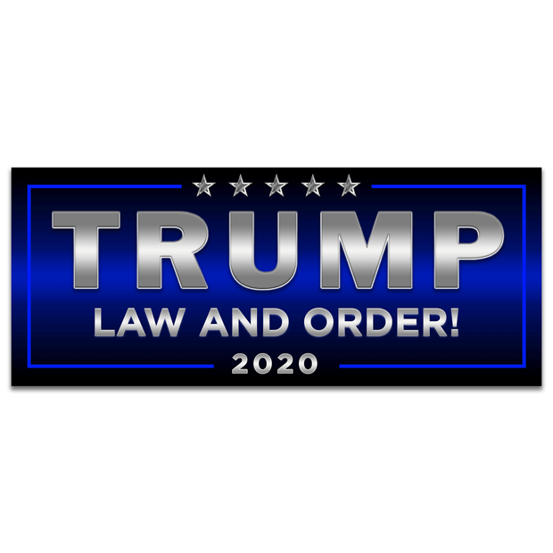 Trump Law and Order 2020 Blue Line Bumper Sticker / DT-BS-544